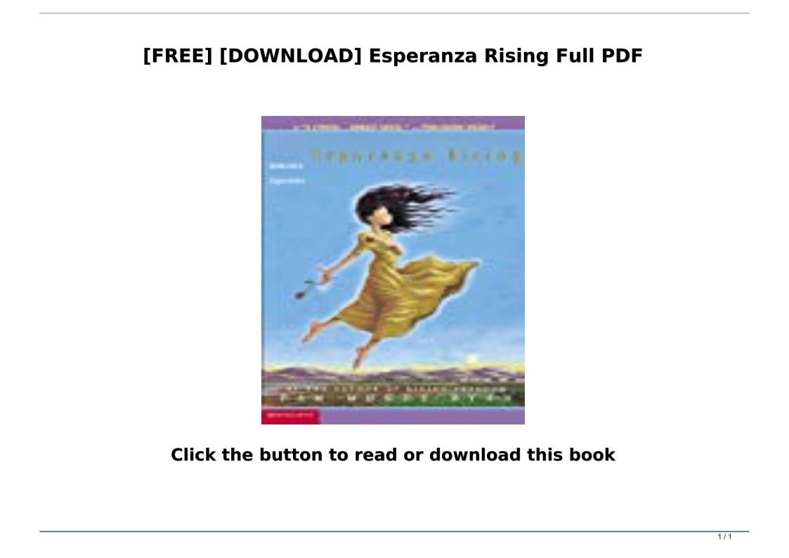 Esperanza Rising Full Text Pdf Free