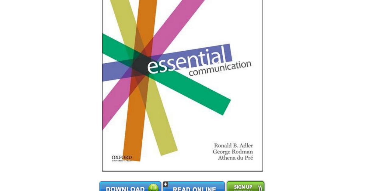 Essential Communication Adler Pdf Free Download
