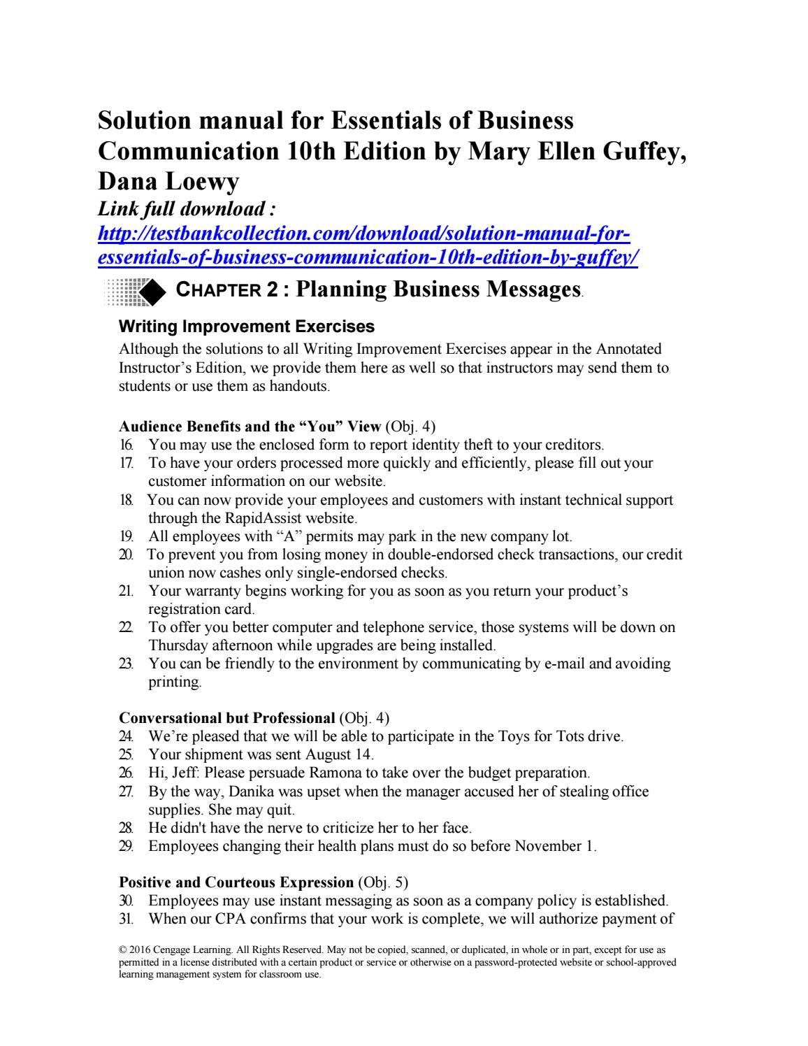 Essentials Of Business Communication 11th Edition Pdf