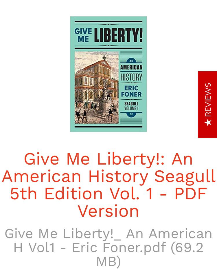 Foner Give Me Liberty Pdf