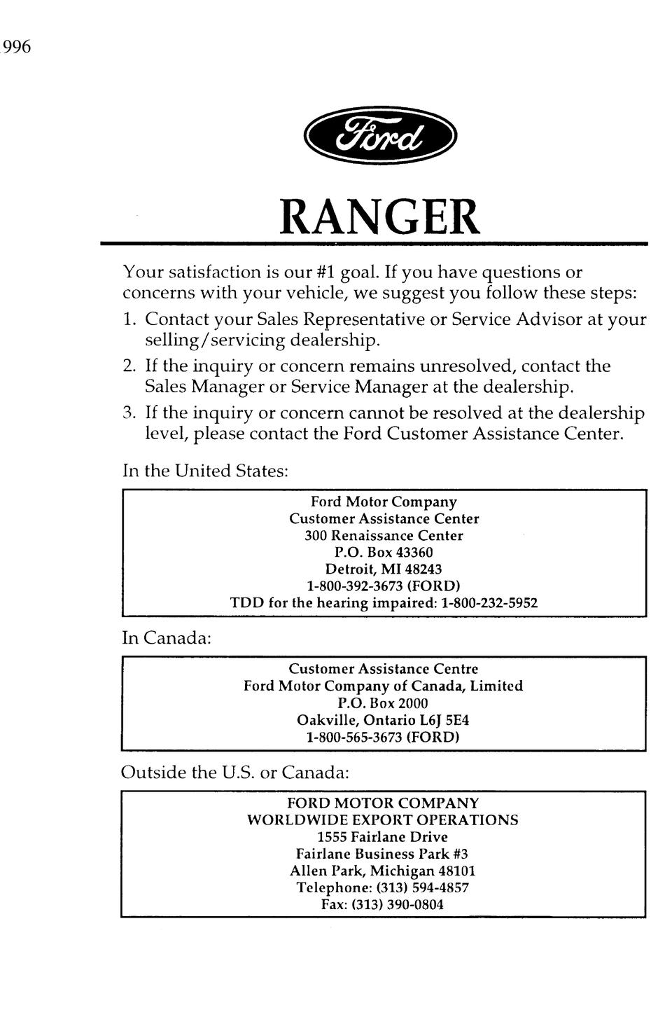 Ford Ranger Maintenance Schedule Pdf