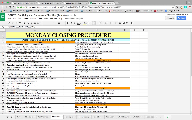 Forex Trading Checklist Template Pdf
