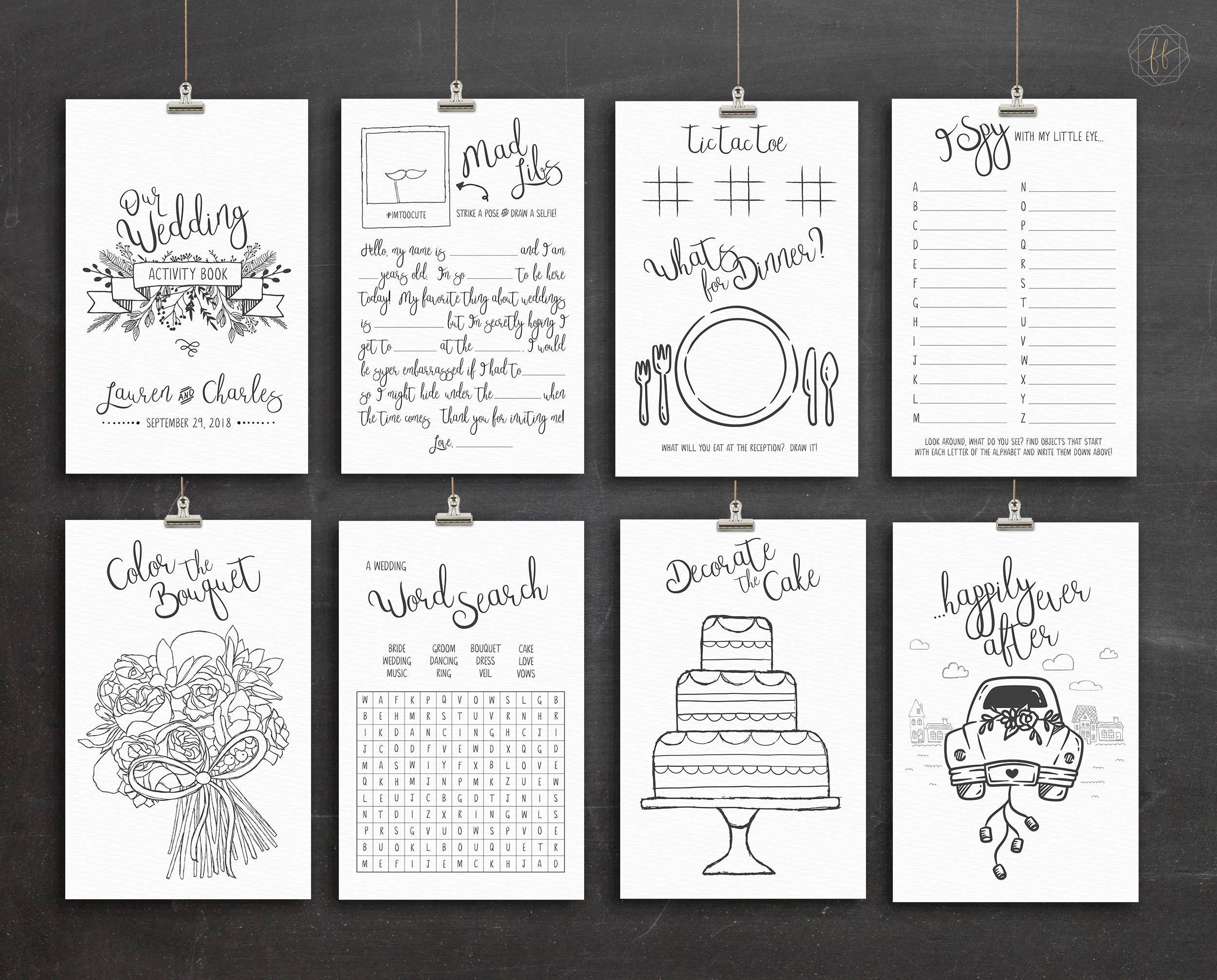 Free Wedding Activity Book Pdf