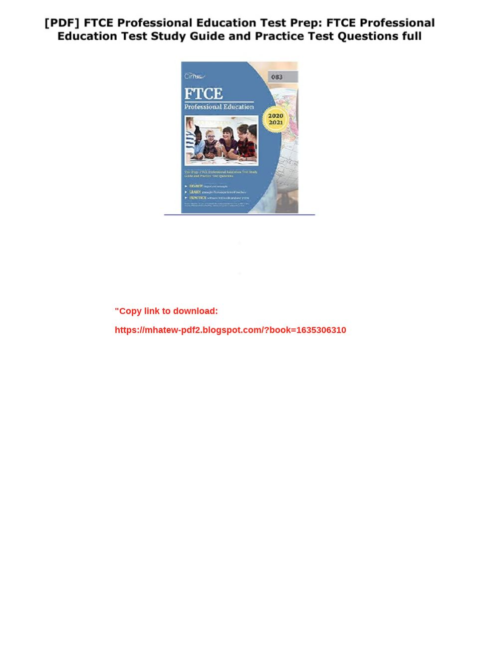 Ftce Professional Education Test Study Guide Pdf