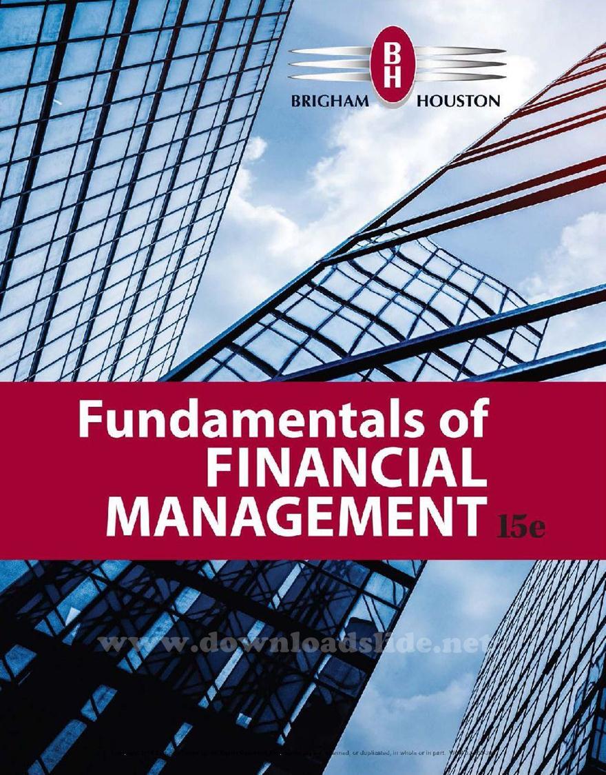 Fundamentals Of Financial Management Pdf Brigham And Houston