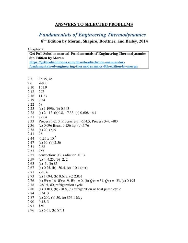 Fundamentals Of Thermodynamics 9th Edition Pdf Free