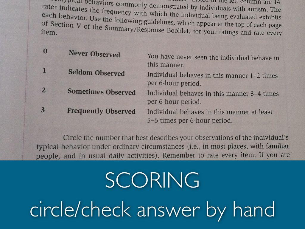 Gars 3 Scoring Manual Pdf Free