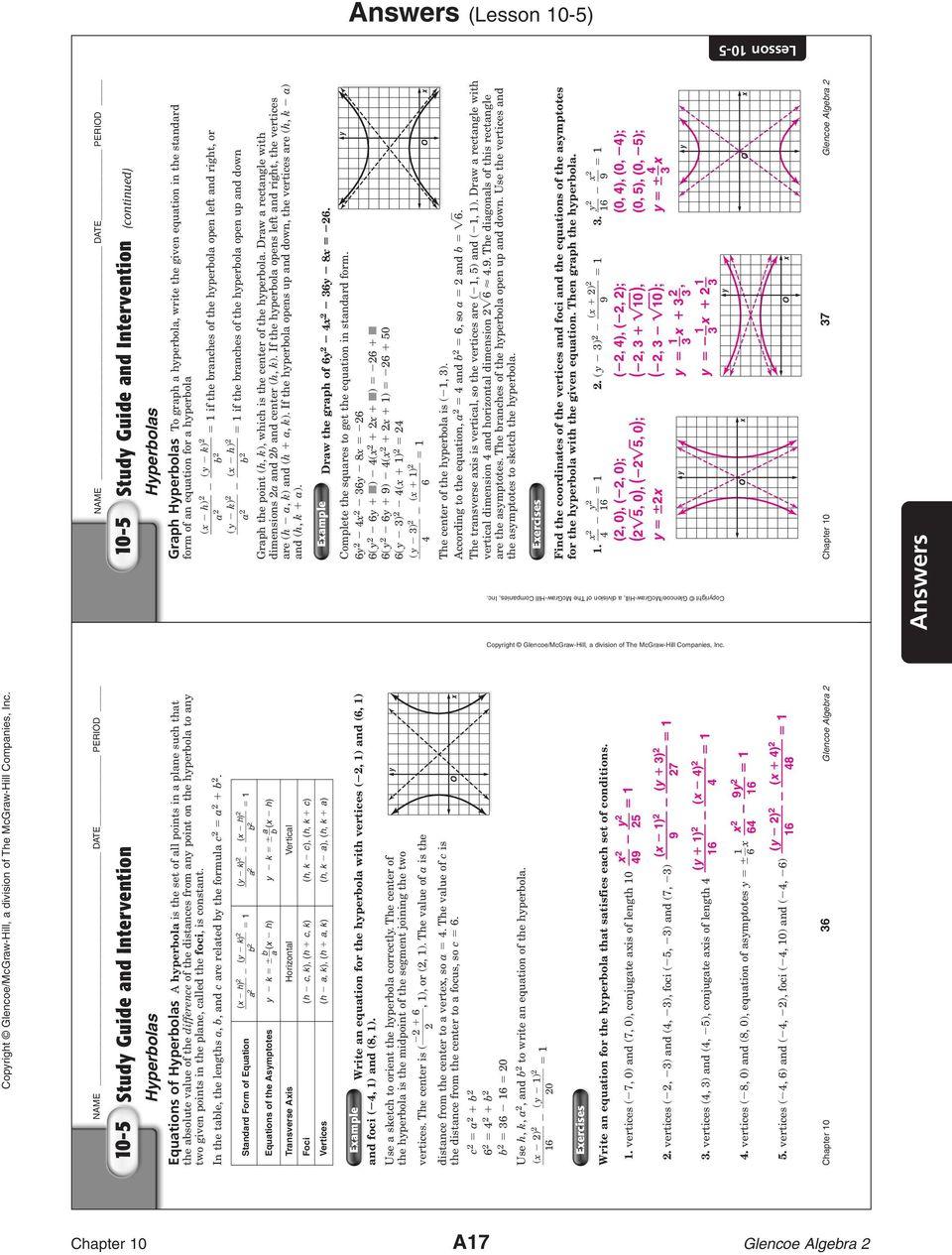 Glencoe Algebra 1 Answer Key Pdf
