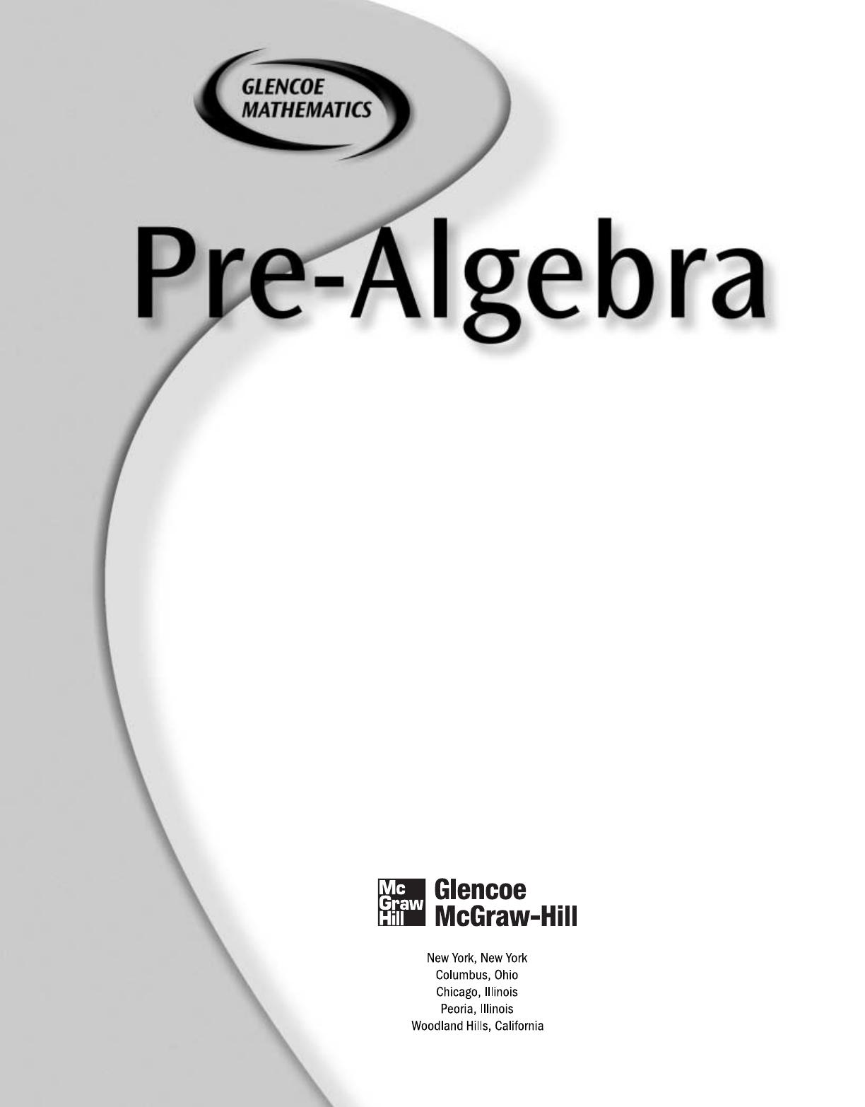 Glencoe Algebra 1 Pdf