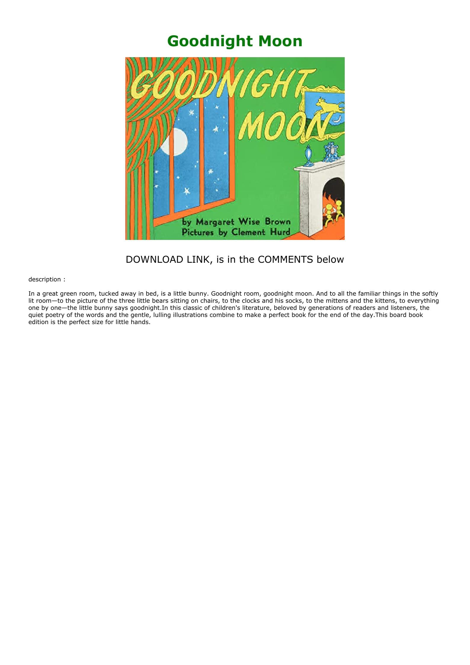Goodnight Moon Book Pdf Download