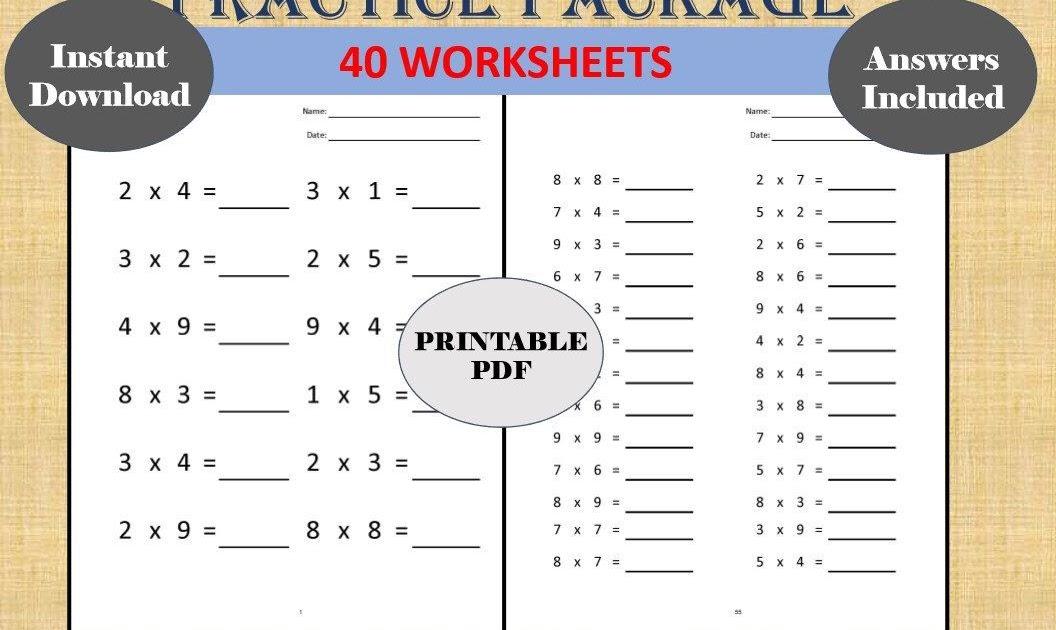 Grade 4 Kumon Math Worksheets Pdf