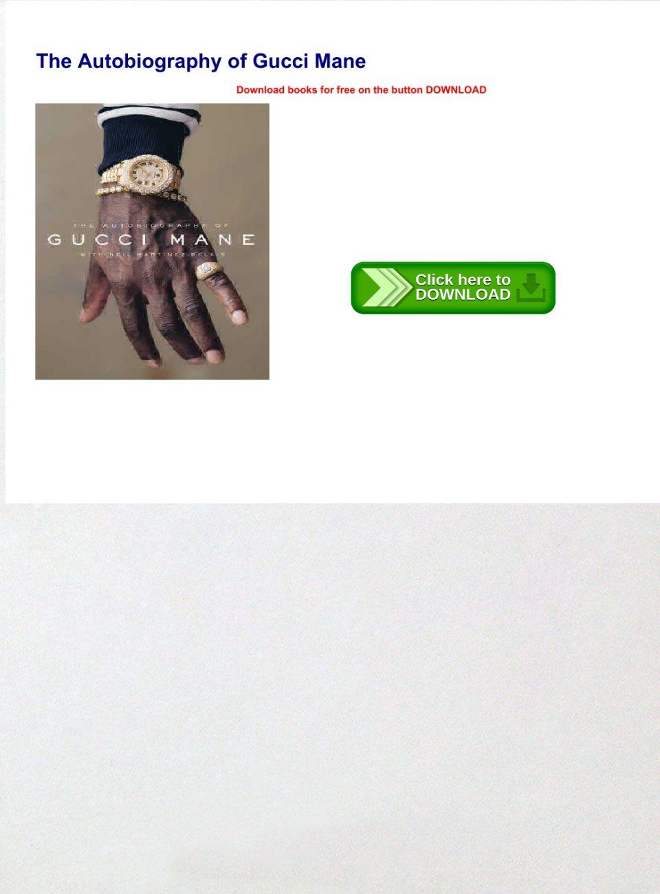 Gucci Mane Autobiography Pdf