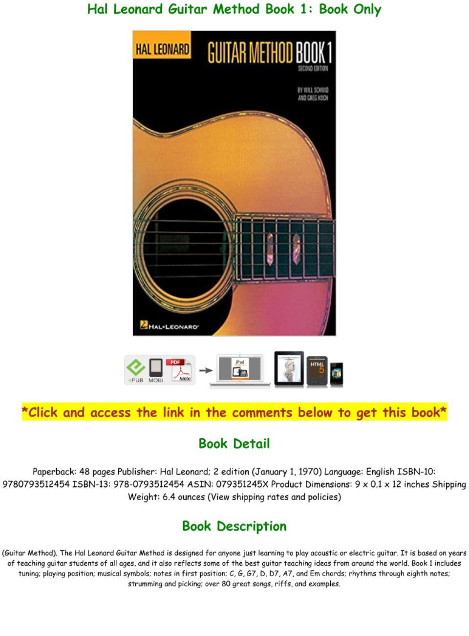 Hal Leonard Guitar Method Book 1 Pdf