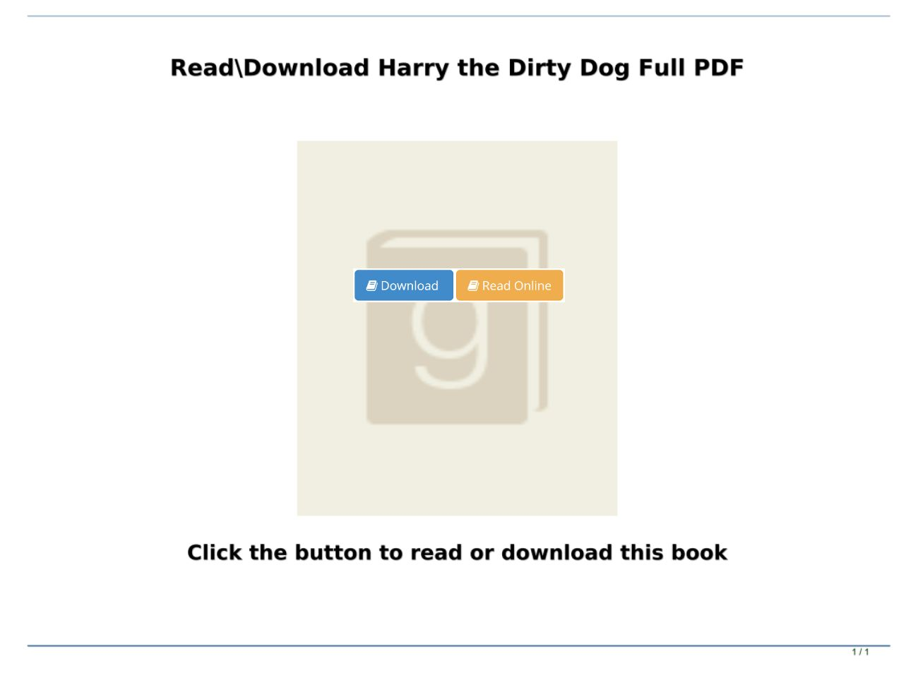Harry The Dirty Dog Pdf Download