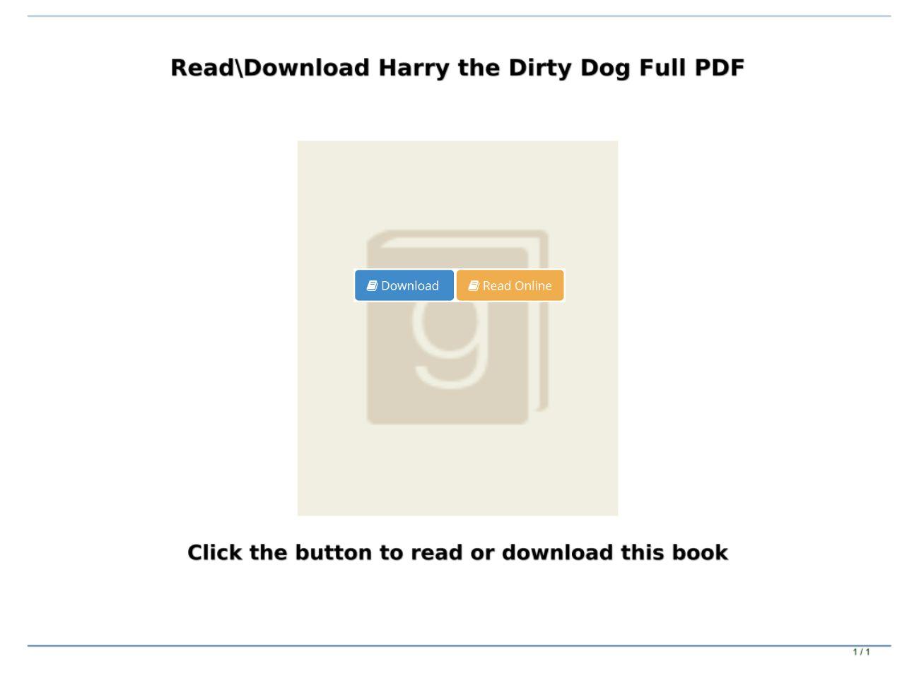 Harry The Dirty Dog Pdf