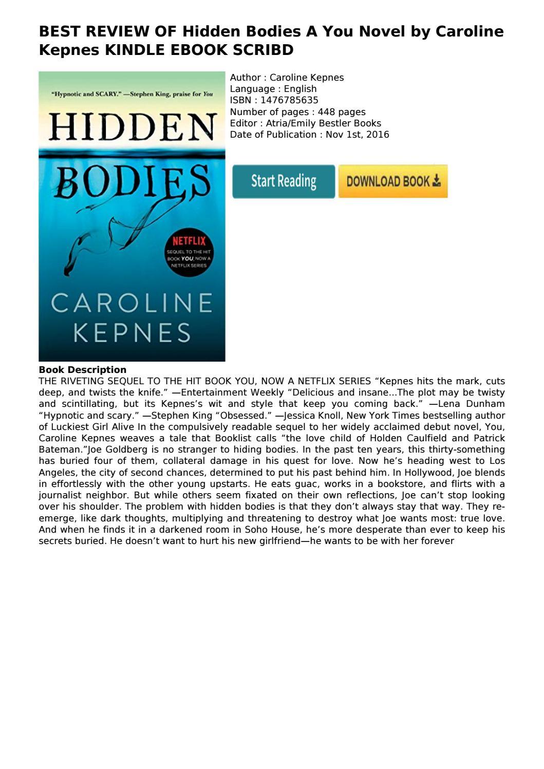 Hidden Bodies Caroline Kepnes Pdf Free Download