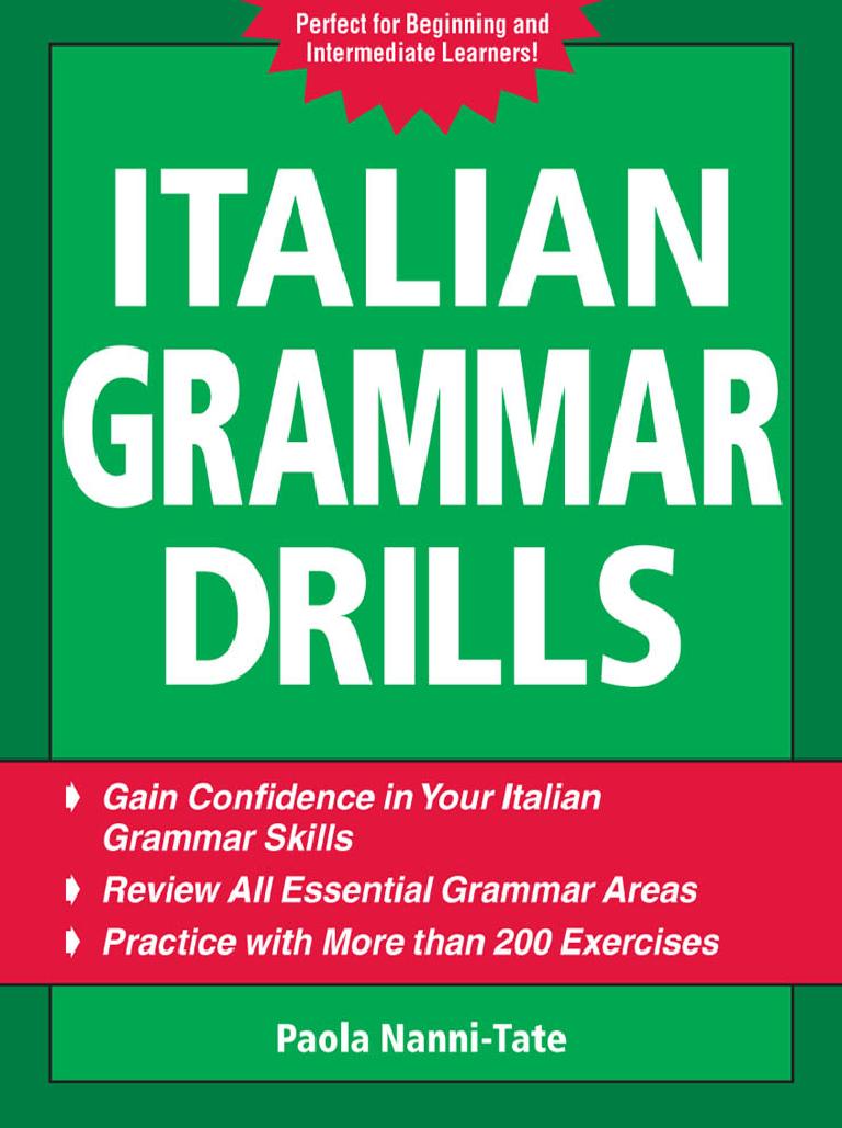 Italian Grammar Pdf