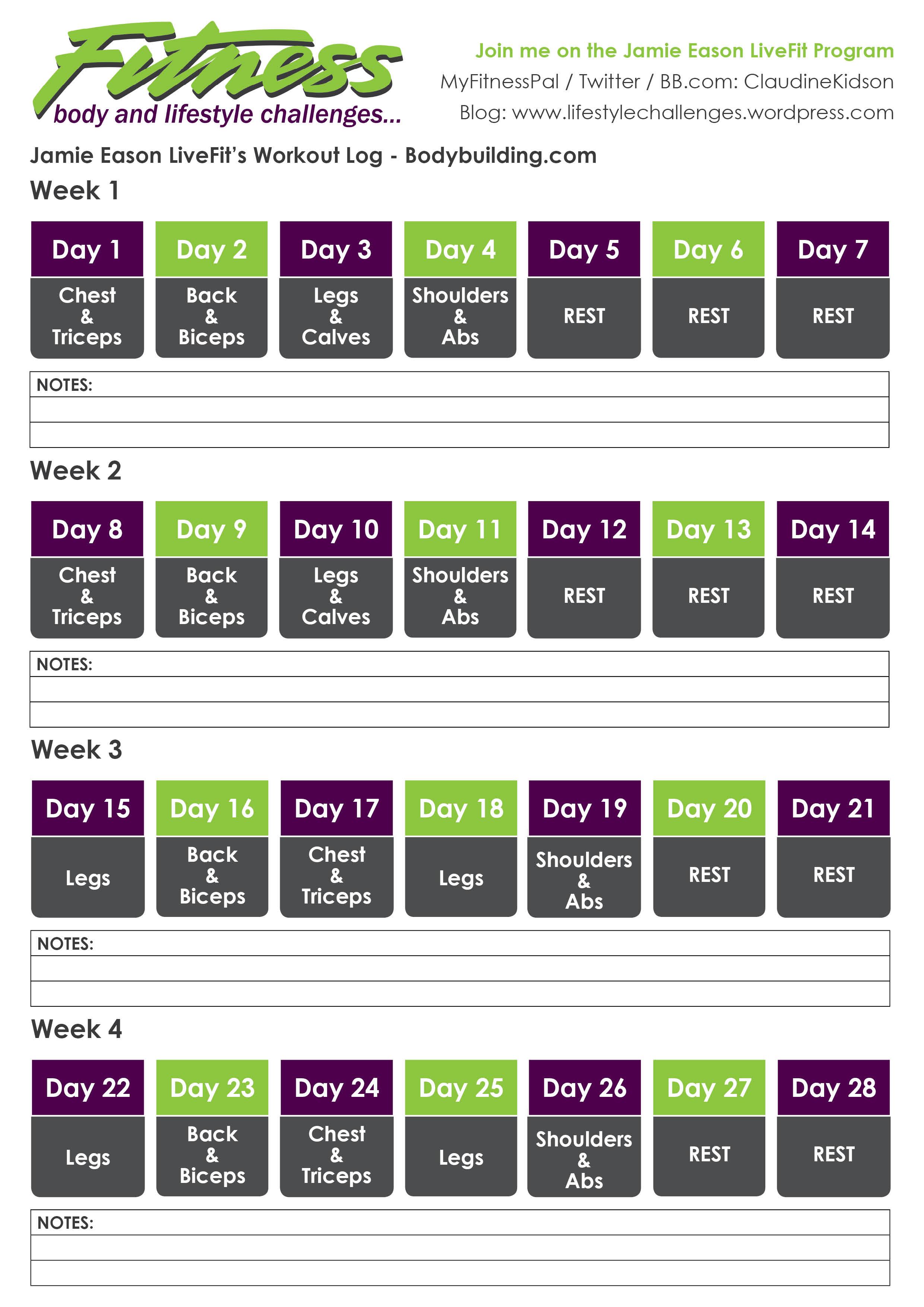 Jamie Eason 12 Week Workout Plan Pdf
