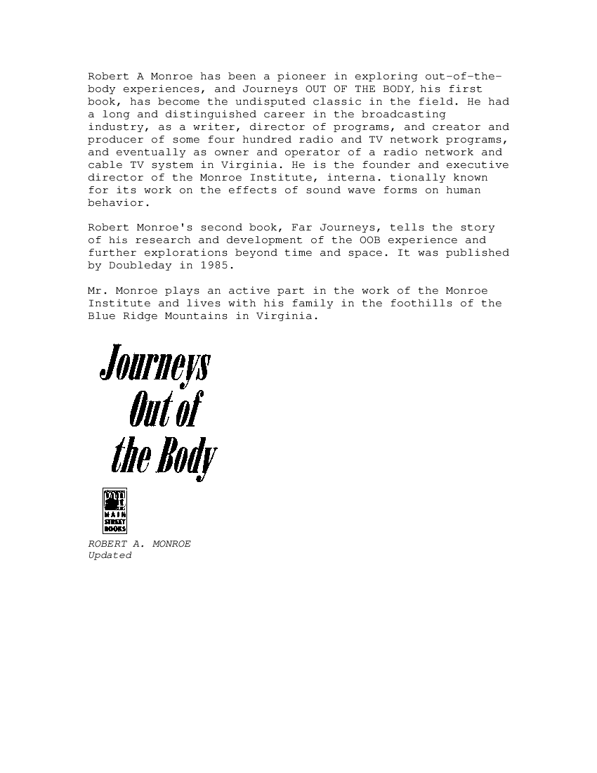 Journeys Out Of The Body Pdf