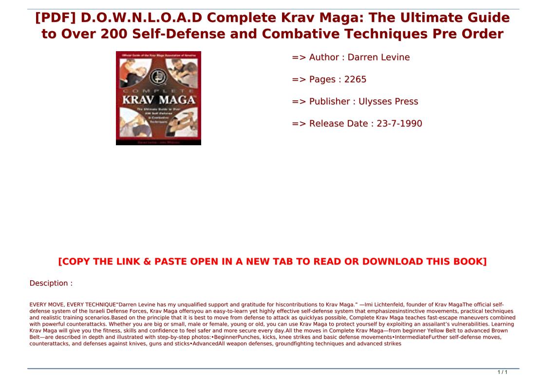 Krav Maga Pdf Download