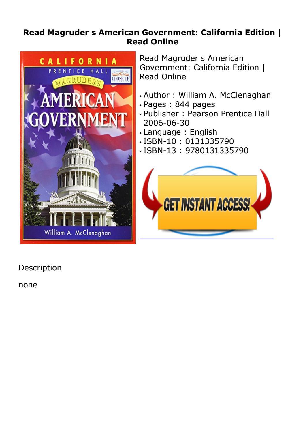 Magruders American Government California Edition Pdf