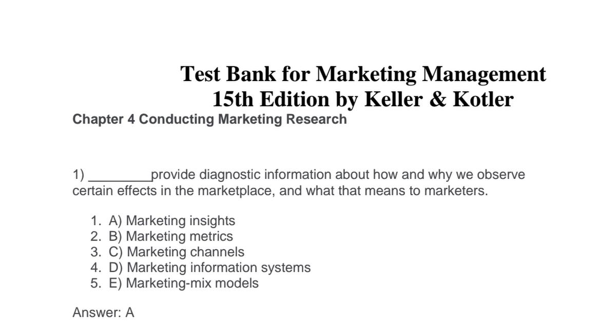 Marketing Management Kotler 15th Edition Pdf