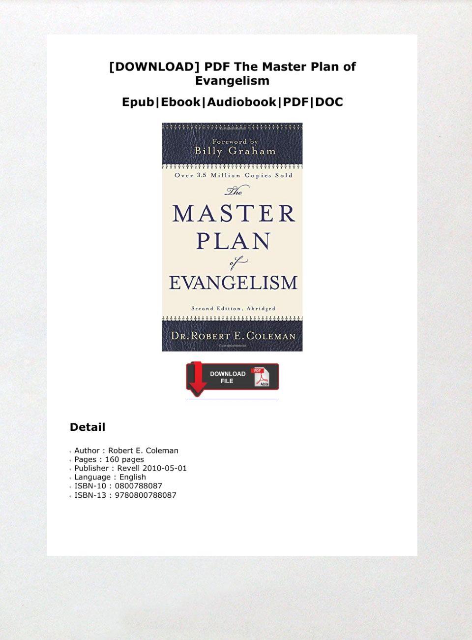 Master Plan Of Evangelism Pdf