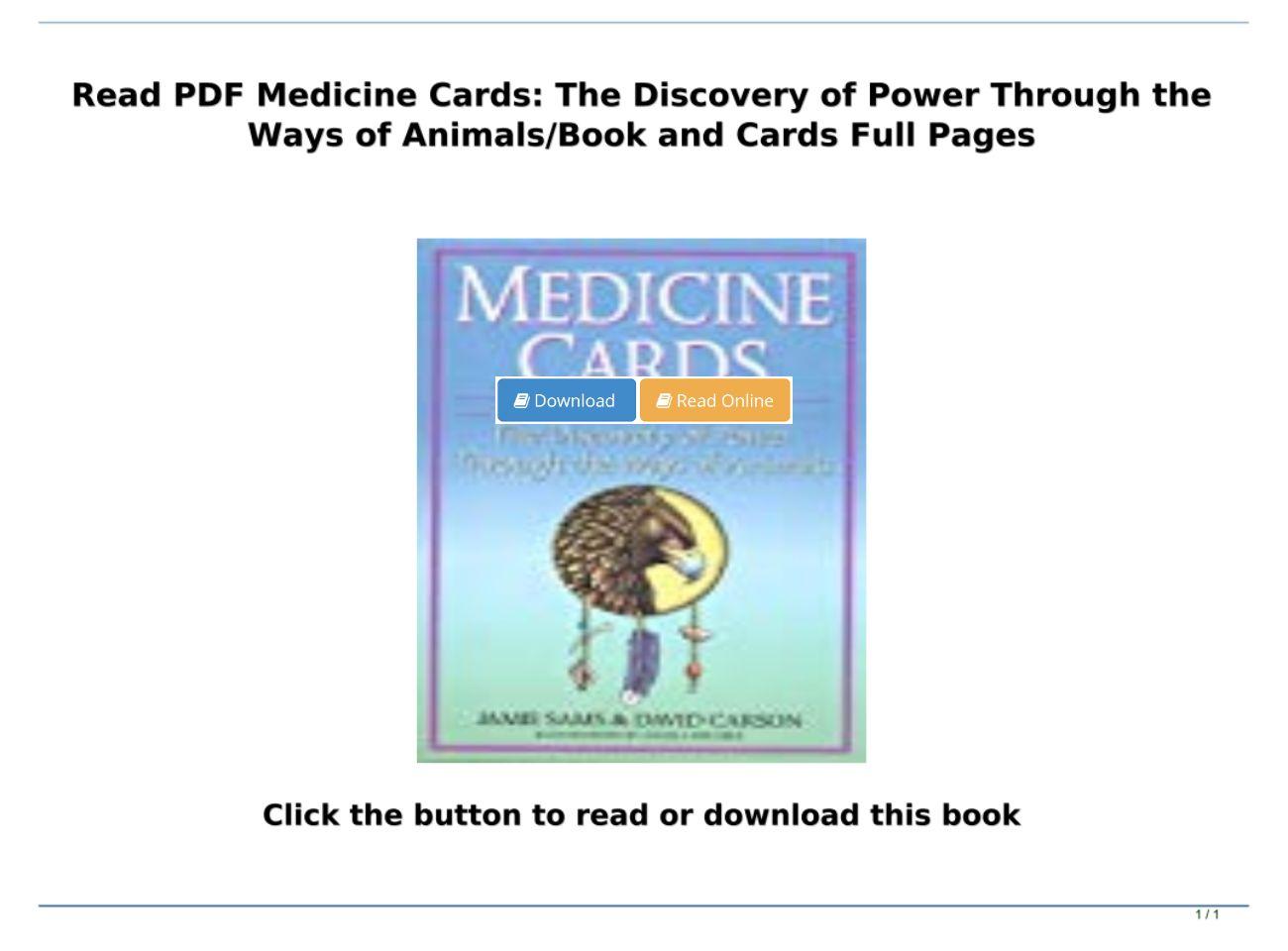 Medicine Cards Pdf