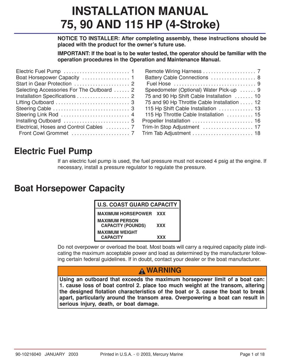 Mercury 90hp 2 Stroke Manual Pdf