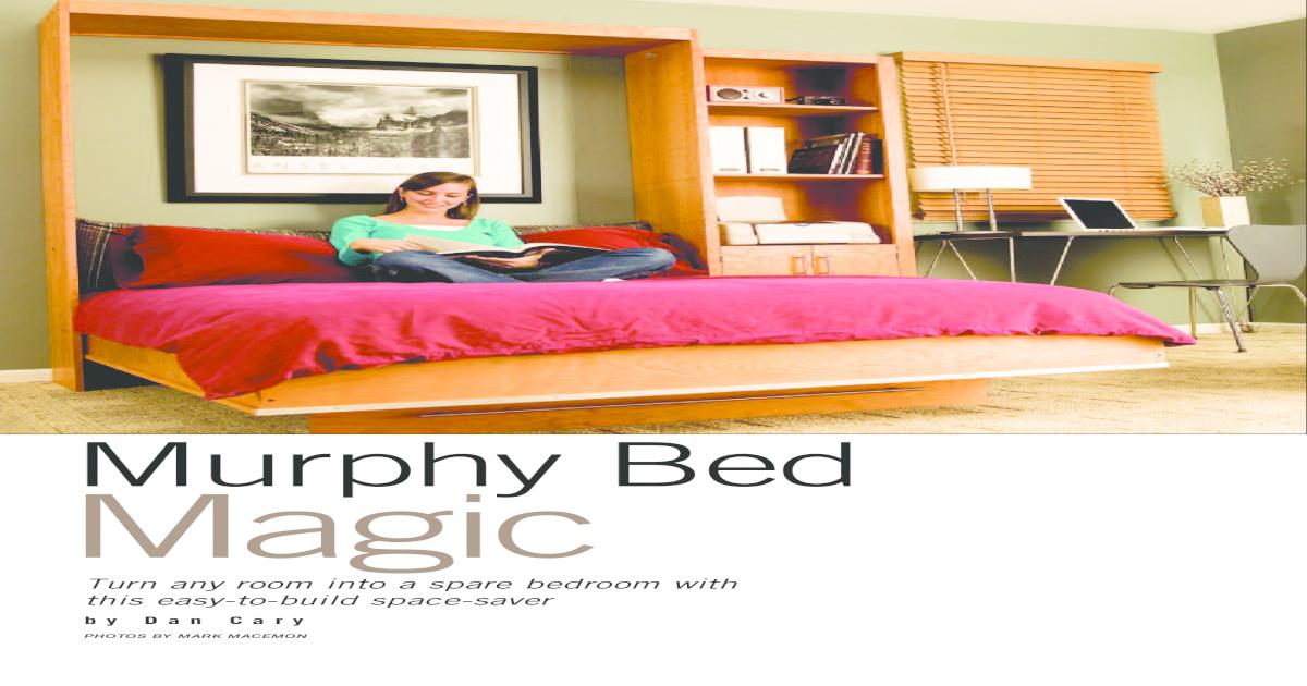 Murphy Bed Plans Pdf