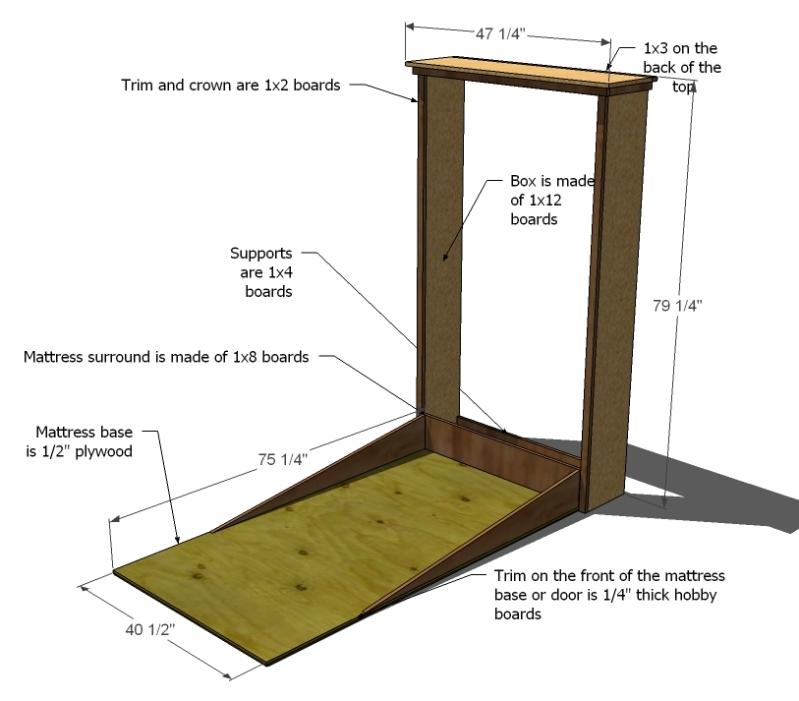 Pdf Horizontal Murphy Bed Plans Free