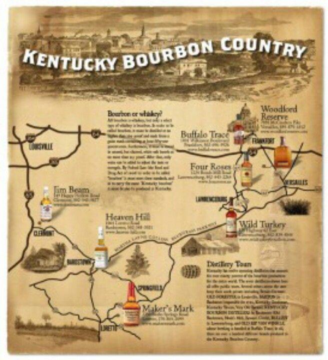 Pdf Printable Kentucky Bourbon Trail Map