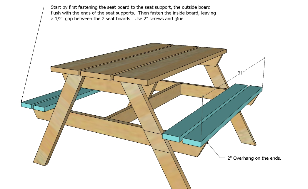 Woodworking Plans Free Folding Picnic Table Bench Plans Pdf