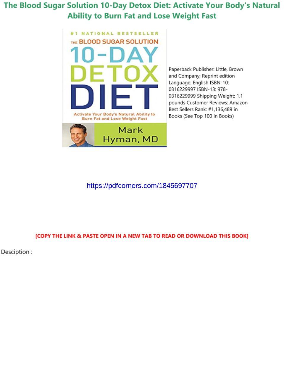 10 Day Diet Detox Pdf