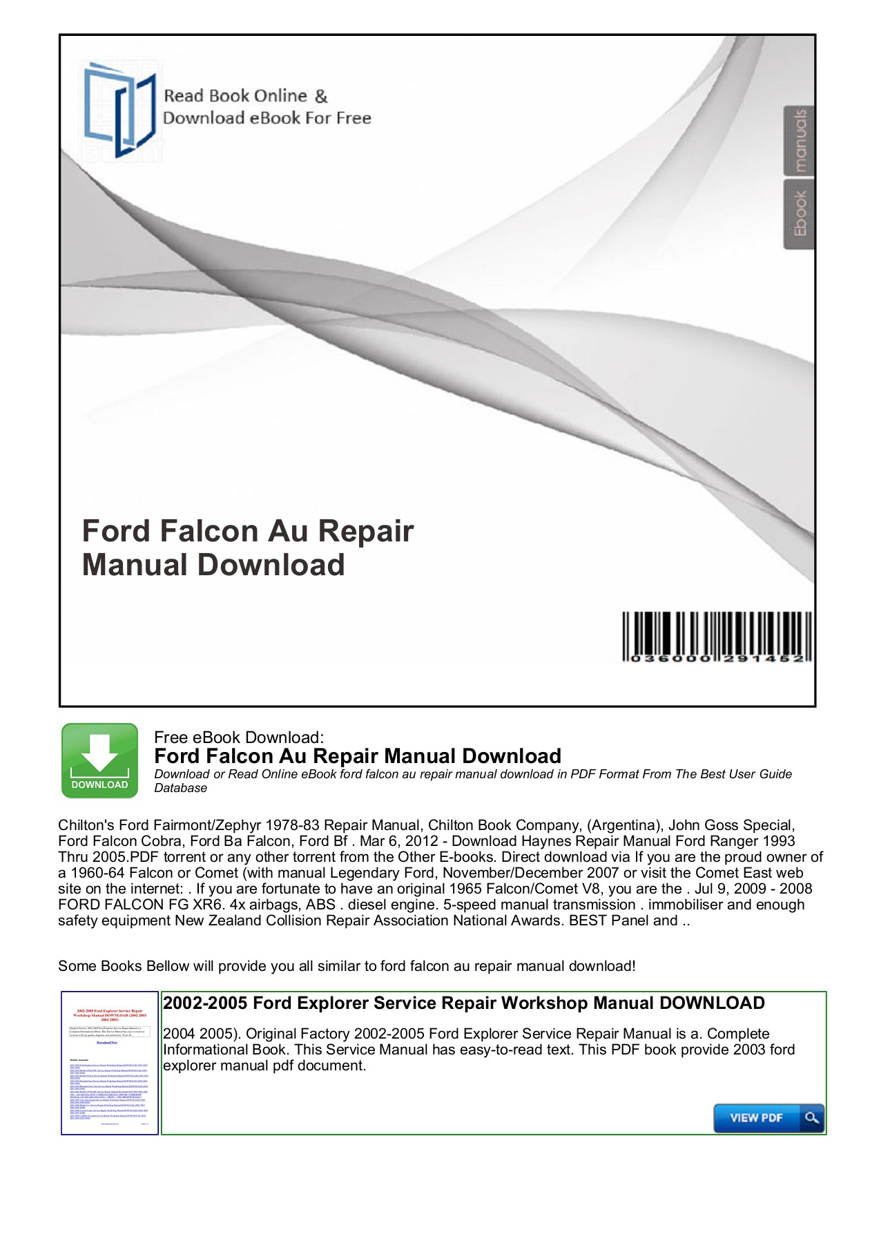 1966 Ford Mustang Service Manual Pdf