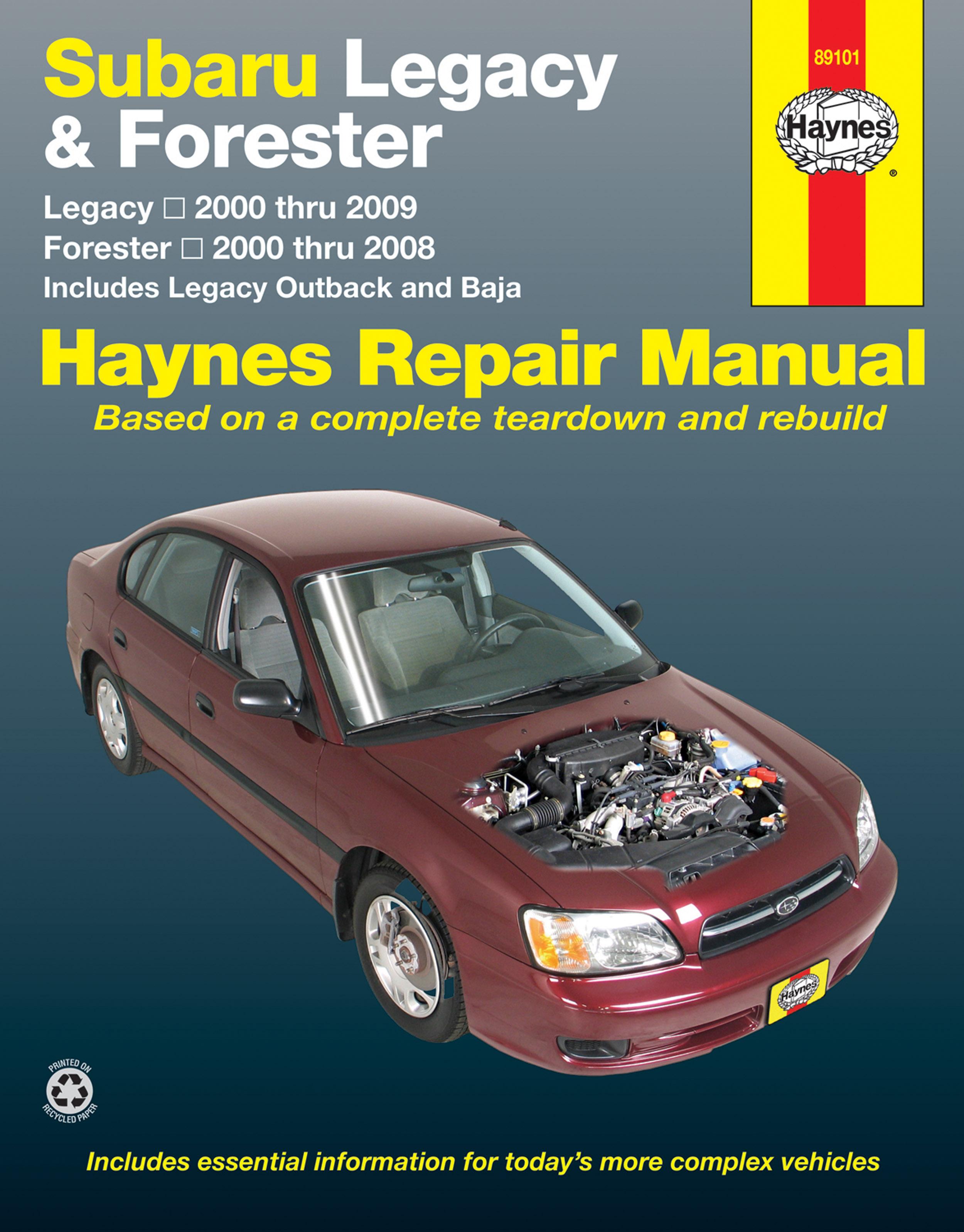 2003 Subaru Forester Shop Manual Pdf