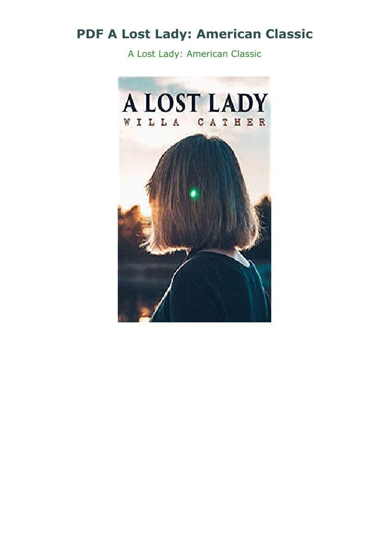 A Lost Lady Pdf