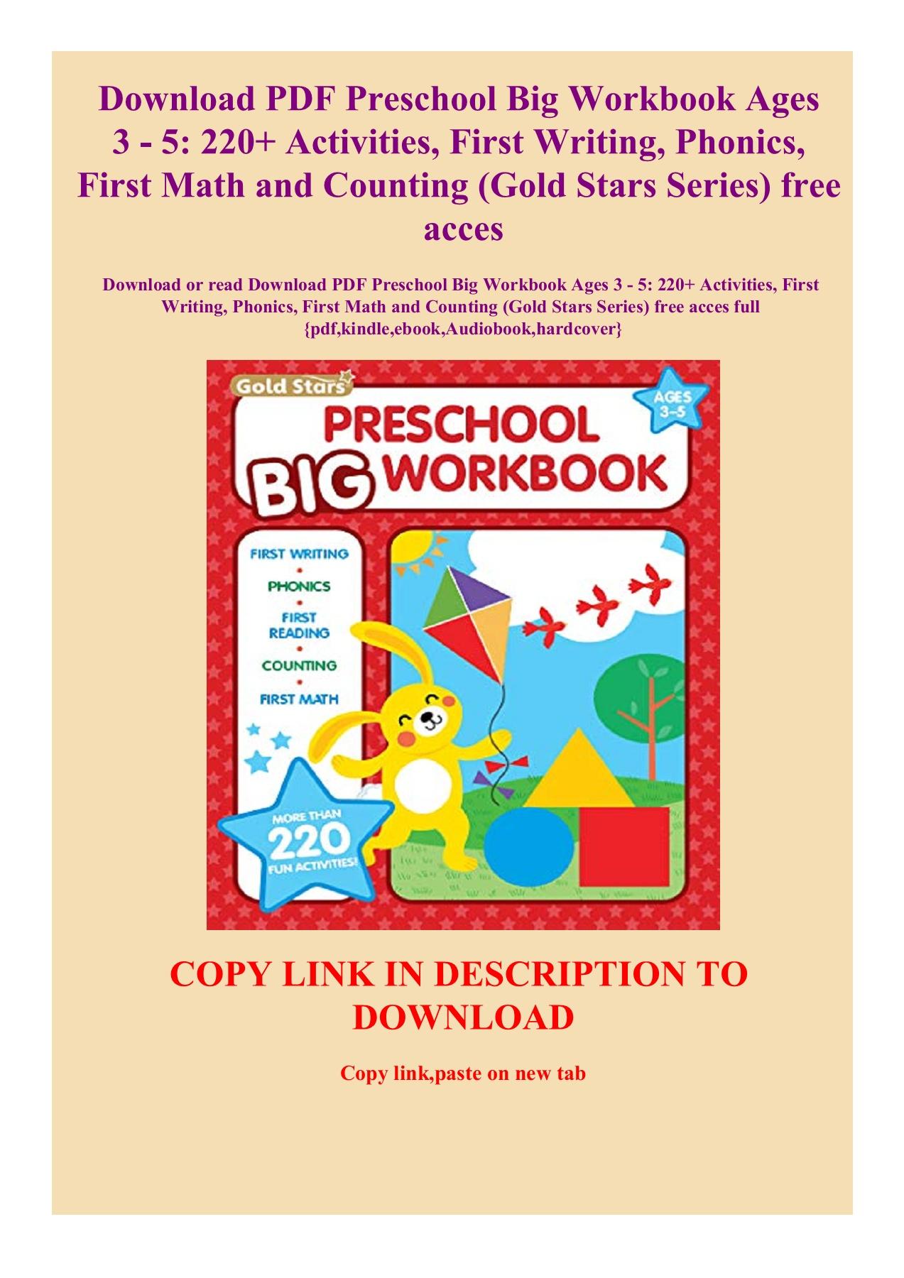 Big Preschool Workbook Pdf Free Download