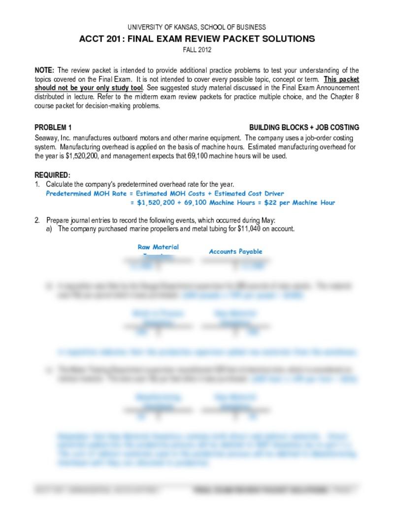 Bookkeeping Exam Pdf