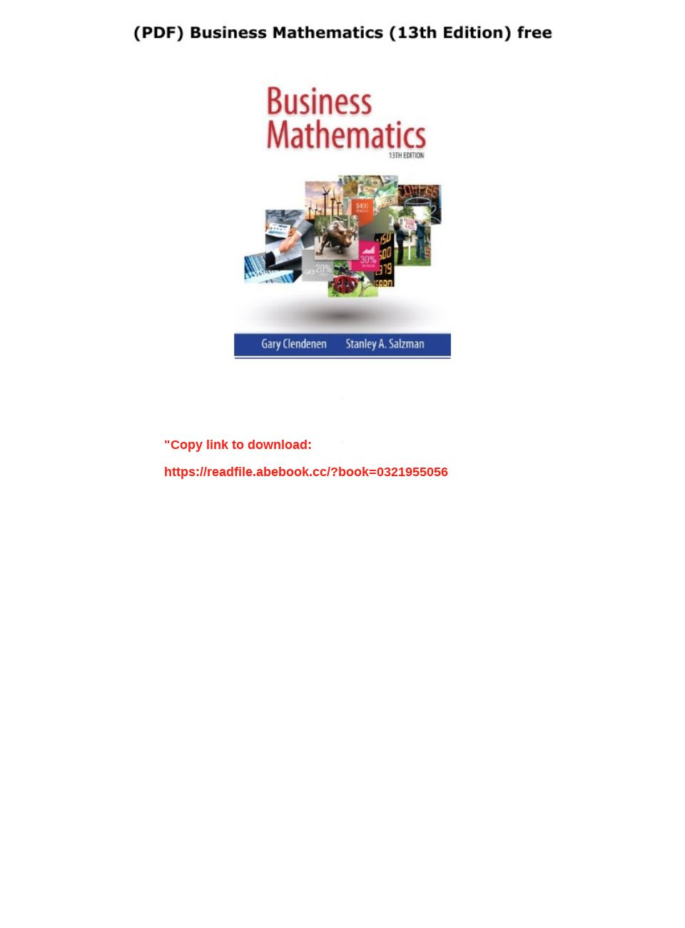 Business Mathematics 13th Edition Pdf Free