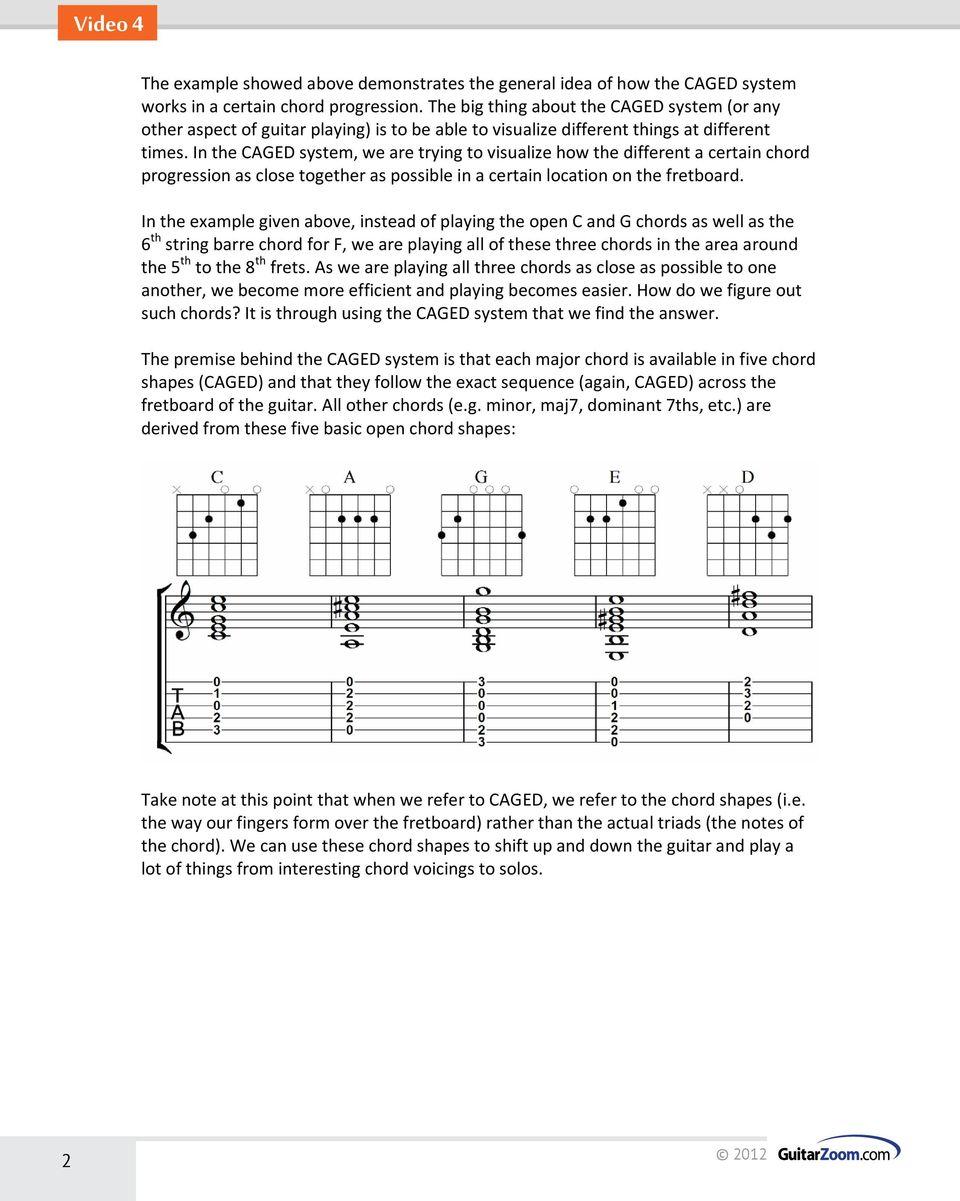 Caged System Guitar Pdf