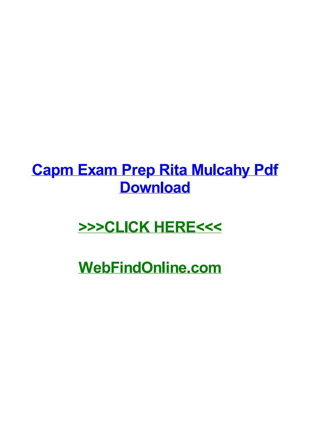 Capm Rita Mulcahy Pdf