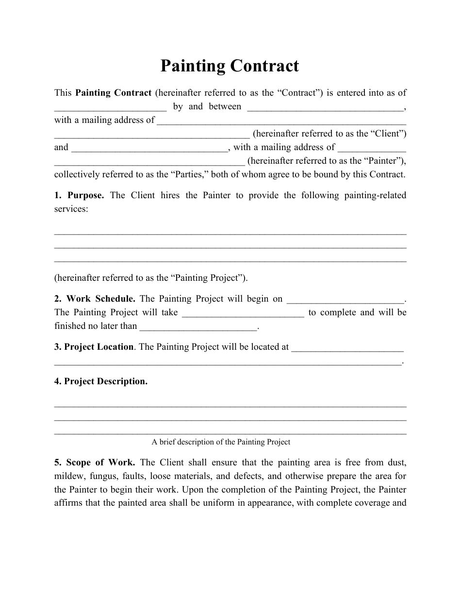 Estimate Painting Proposal Sample Pdf
