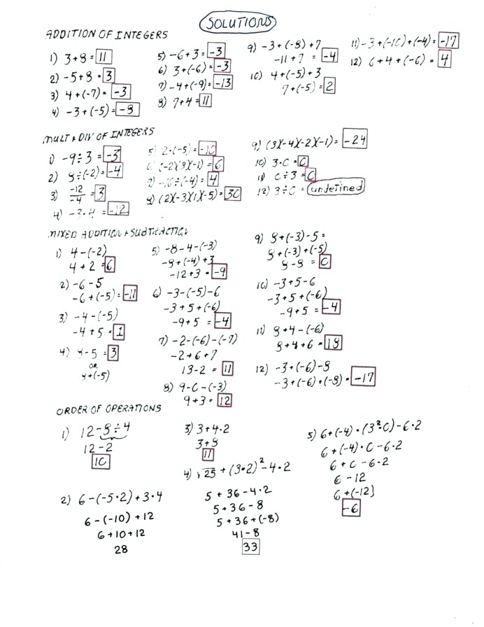 Grade 9 Algebra Worksheets With Answers Pdf