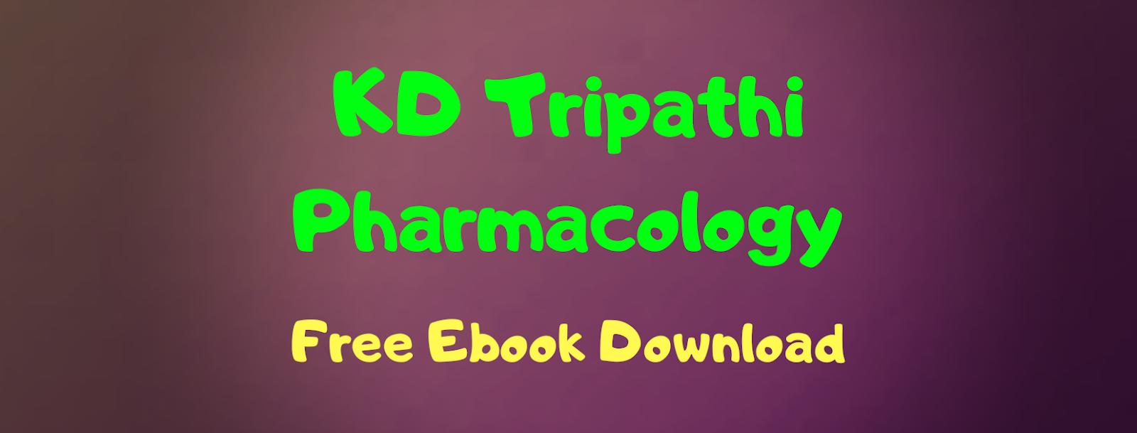 Kd Tripathi Pharmacology Book Pdf Download