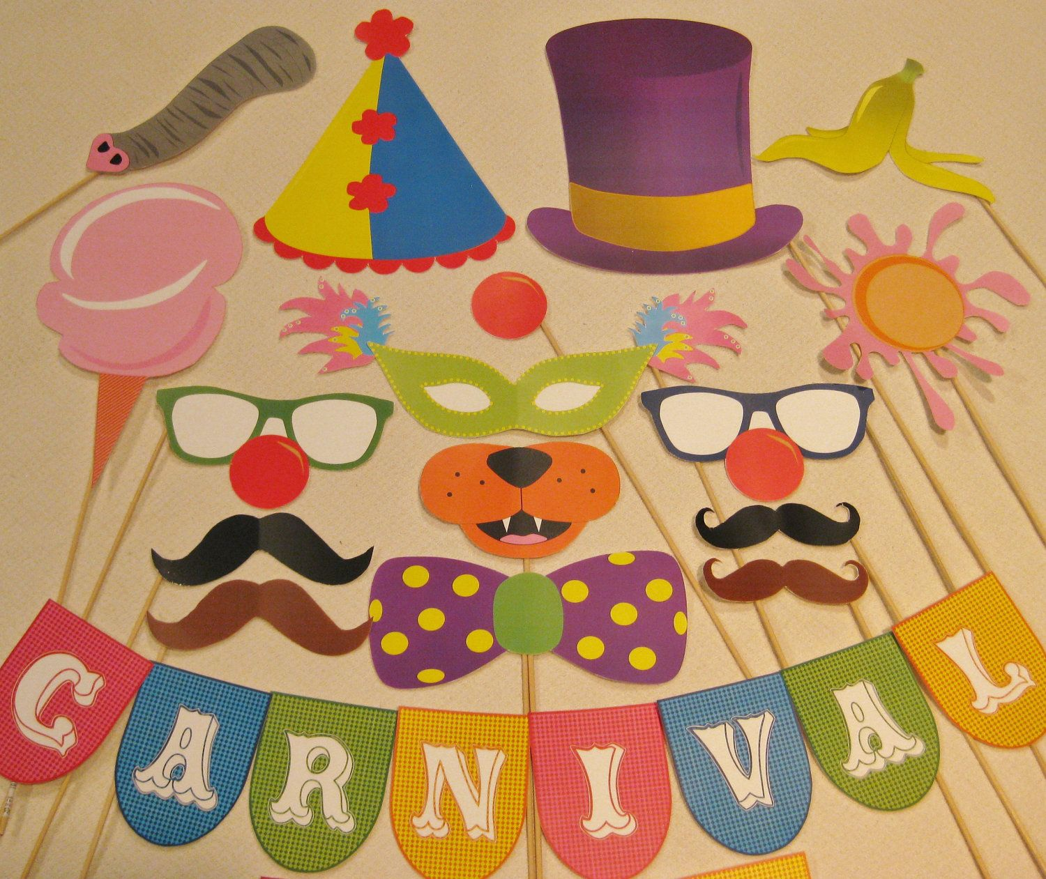 Pdf Carnival Photo Booth Props Printable