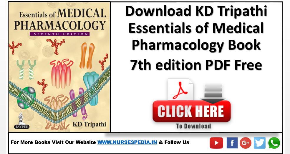 Pharmacology Book Pdf Kd Tripathi