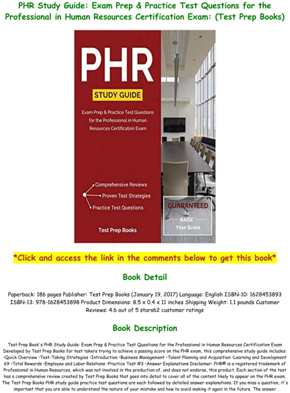 Phr Practice Test Pdf