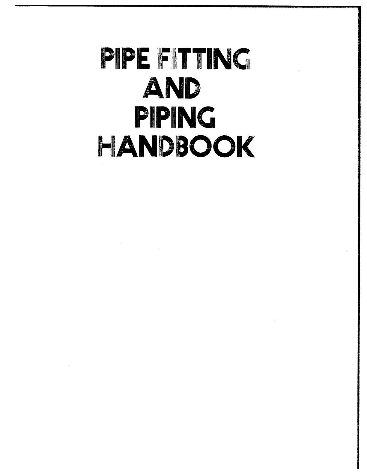 Pipe Fitting Handbook Pdf