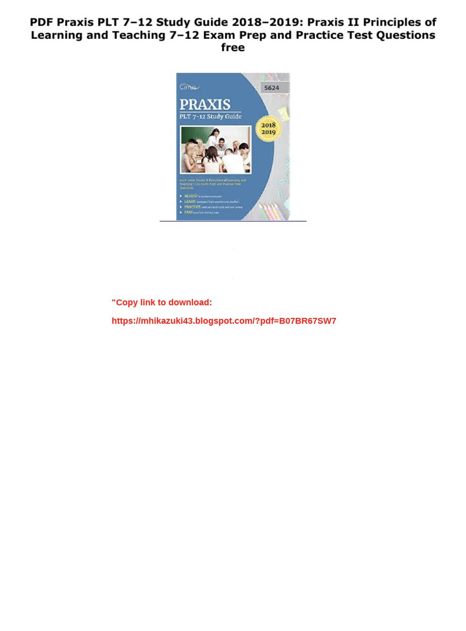 Praxis Plt 7 12 Practice Test Pdf